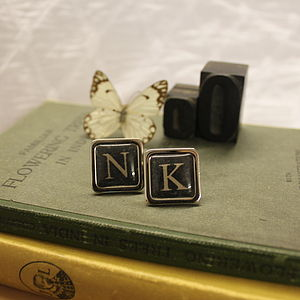 Personalised Monogrammed Cufflinks - women's jewellery