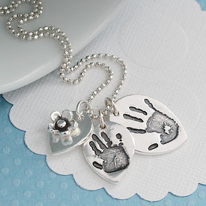 Handprint Footprint Cluster Necklace
