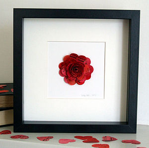 Personalised Red Red Rose Artwork