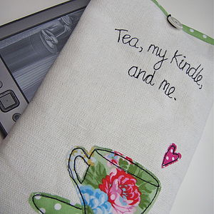 'Tea, My Kindle And Me' Case For Kindle - tech accessories for her