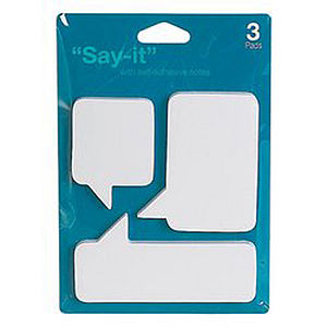 'Say It' Post It Notes