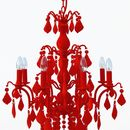 Flocked Jasmine Chandelier