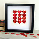 red heart personalised picture