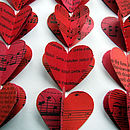 Personalised Heart Strings Artwork In Red