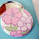 Vintage Floral Wallpaper Pocket Mirror