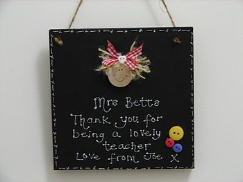 Personalised Teachers Blackboard Plaque