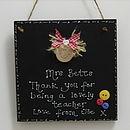 Personalised Teachers Blackboard Plaque