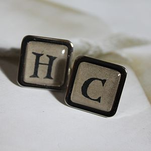Personalised Vintage Typewriter Cufflinks - cufflinks