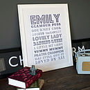 Personalised Personality Print