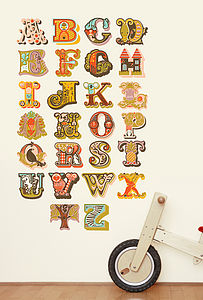Alphabet Fabric Wall Stickers - wall stickers