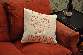 Stuck To A Sofa Cushion Cover