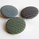 Set Of Three Stripe Reflective Badges