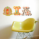 Letters in the room fabric wall stickers