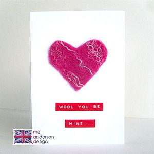 Personalised Heart Felt Card
