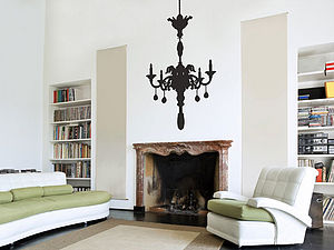 Large Chandelier Wall Sticker - decorative accessories
