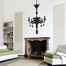 Large Chandelier Wall Sticker