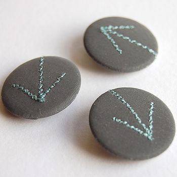 Set Of Three Arrow Reflective Badges