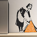 Large Banksy Maid Wall Sticker