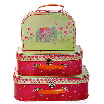 nesting suitcases indian elephant
