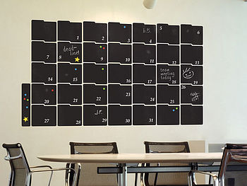 Large Chalkboard Calendar Wall Sticker