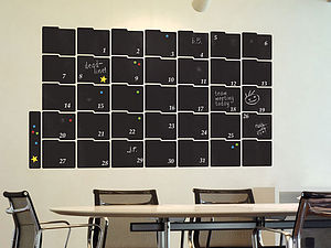 Large Chalkboard Calendar Wall Sticker - decorative accessories