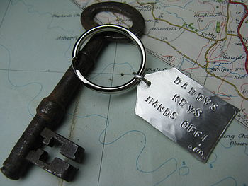 Personalised Silver Key Ring