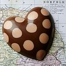 Handmade Chocolate Spotty Heart