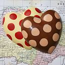 Handmade Chocolate Spotty Heart