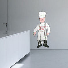 Mr Benn Chef Childrens Wall Sticker