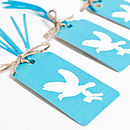 Love Birds Gift Tags Aqua Collection
