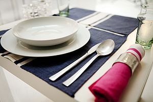 Fouta Stripe Table Mat - dining room