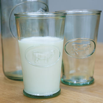 Retro Milk Glass Set