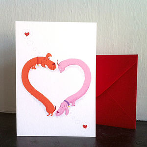 Stretch The Sausage Dog Valentine's Card - shop by category