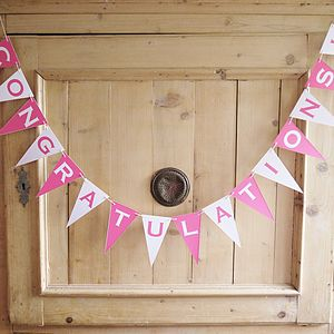 Congratulations Bunting - outdoor decorations