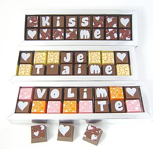 Personalised Languages Of Love Chocolates - valentine's gifts for her