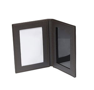 Leather Folding Travel Photo Frame - office & study