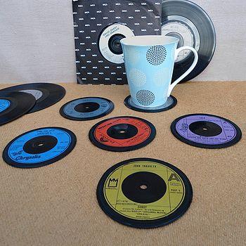 Set Of Six Record Coasters