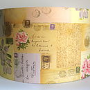 Letters And Roses Lampshade