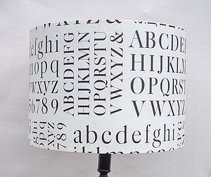 Typography Lampshade - living room