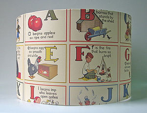 ABC Rhyme Lampshade - children's lighting