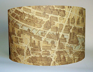 Paris Map Lampshade - lamp bases & shades