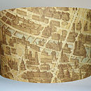 Paris Map Lampshade