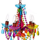 Multi Coloured Ornate Chandelier Small
