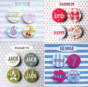 Personalised Child's Badge Set - children's parties