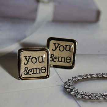 You And Me Anniversary Cufflinks