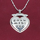 Silver Necklace With Love Poem Charm