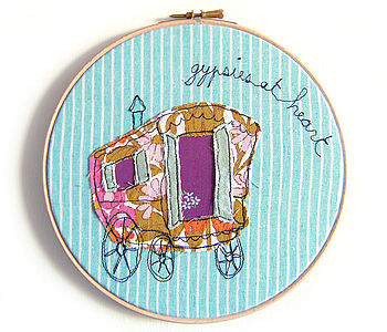 Personalised Gypsies Embroidery Artwork