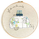 Personalised Caravan Embroidery Artwork