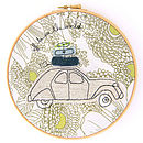 Personalised Road Trip Embroidery Artwork