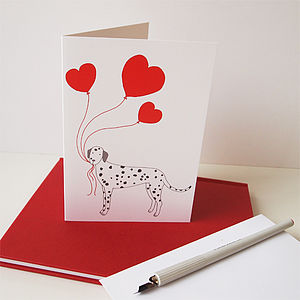 Dog Love Greetings Card - valentine's cards